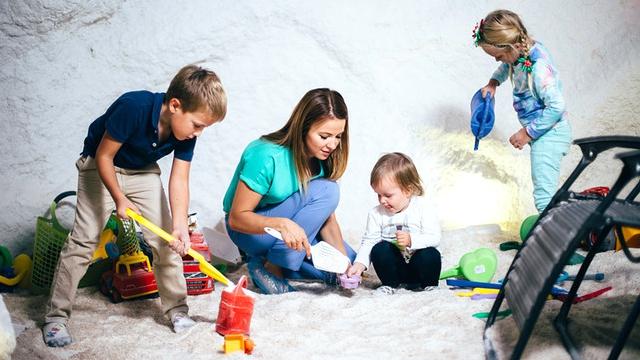 Открытие соляной пещеры для детей в Кривом Роге
